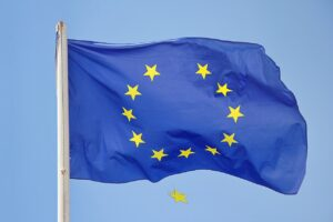 falling star, brexit, the flag of the european union